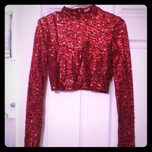 Crop sequin dress top perfect for a night out